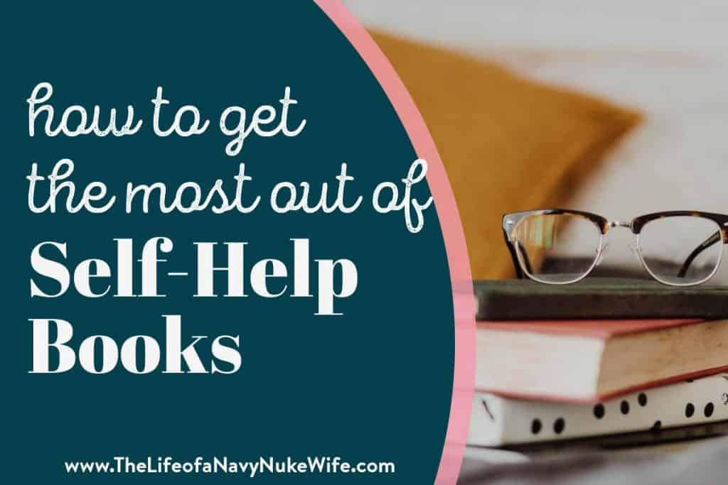 how to get the most of self help books picture of stack of books and glasses