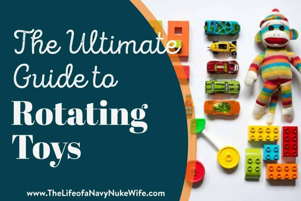 """title featured image a collection of toys and the words """"The Ultimate Guide to Rotating Toys"""""""