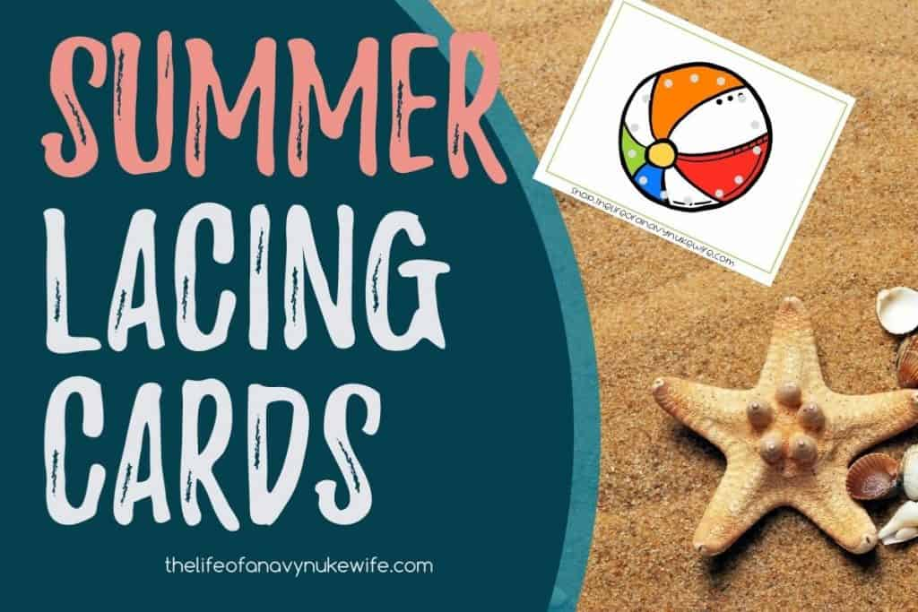 Summer lacing cards printable