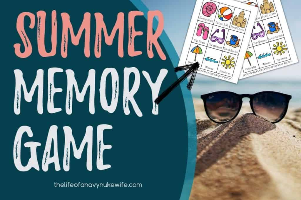 summer memory game featured